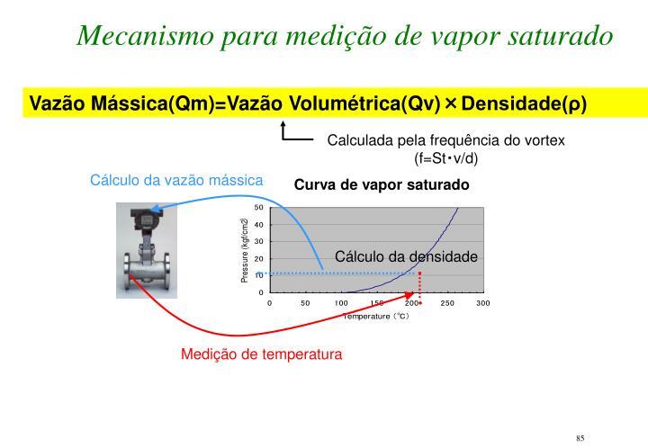 Mecanismo para medição de vapor saturado