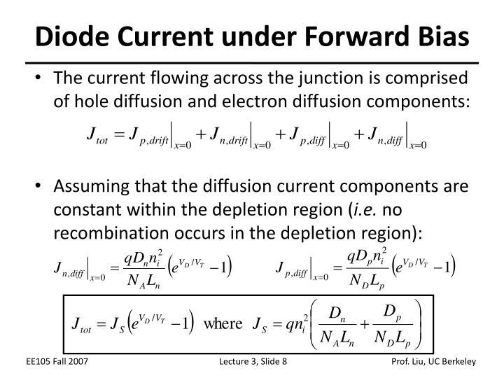 Diode Current under Forward Bias