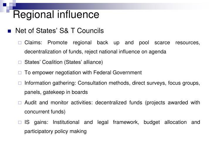 Regional influence