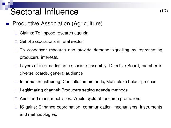Sectoral Influence