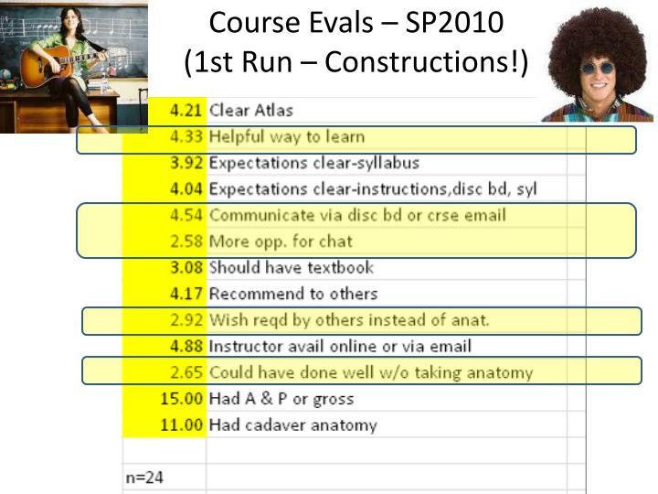 Course Evals – SP2010