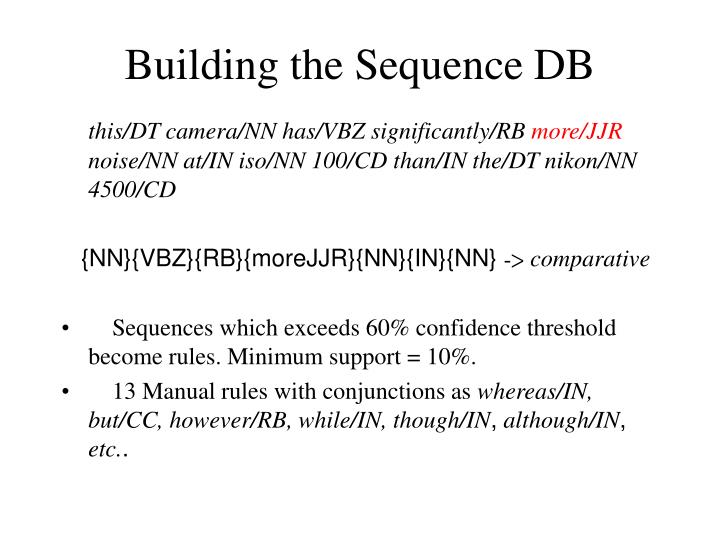 Building the Sequence DB