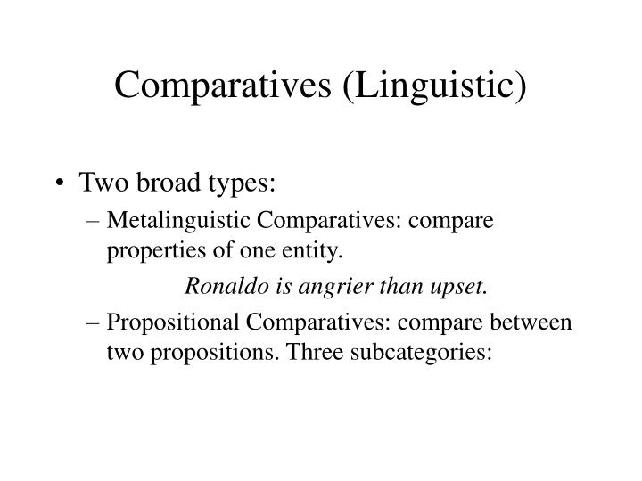Comparatives (Linguistic)