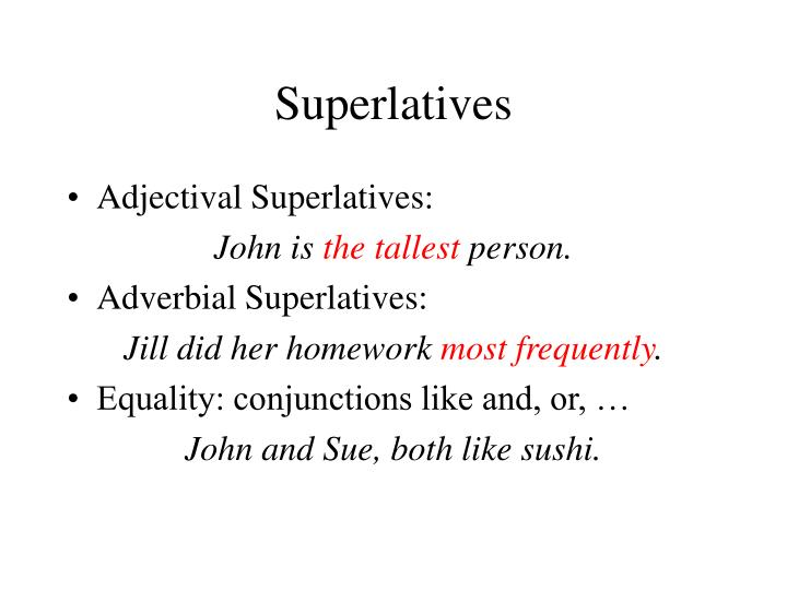 Superlatives