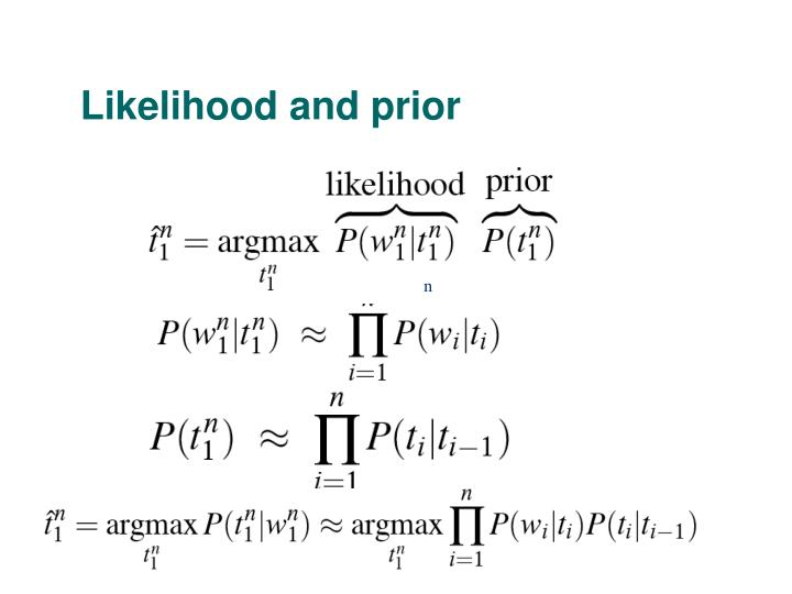 Likelihood and prior