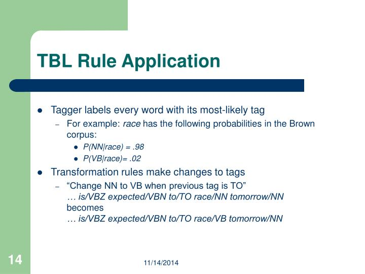 TBL Rule Application