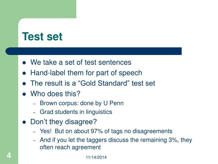 Test set