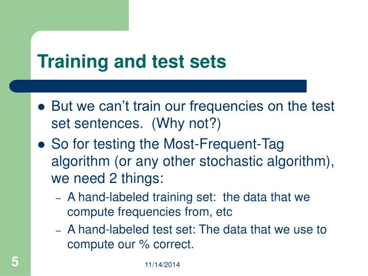 Training and test sets
