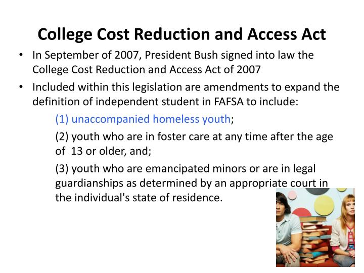 College Cost Reduction and Access Act