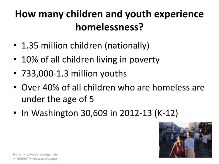 How many children and youth experience homelessness