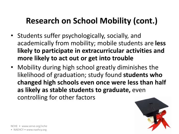 Research on School Mobility (cont.)
