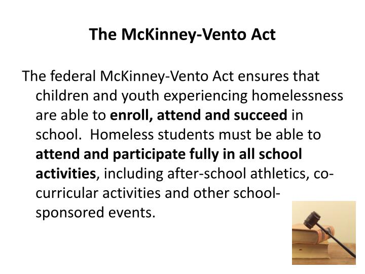 The McKinney-Vento Act
