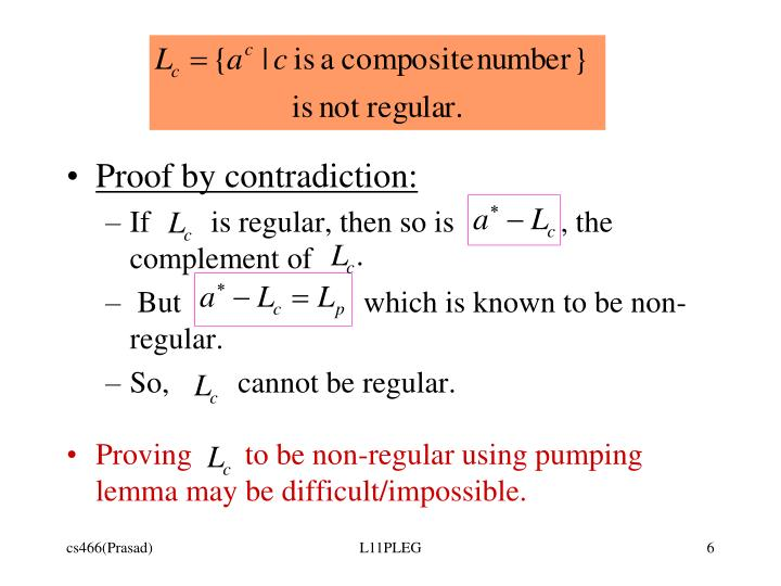 Proof by contradiction: