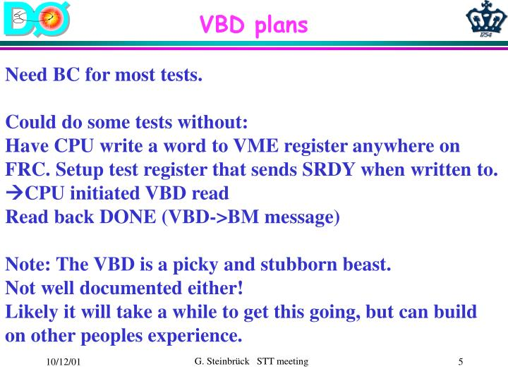 VBD plans