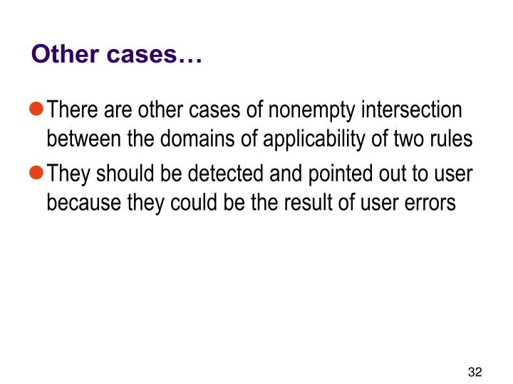 Other cases…