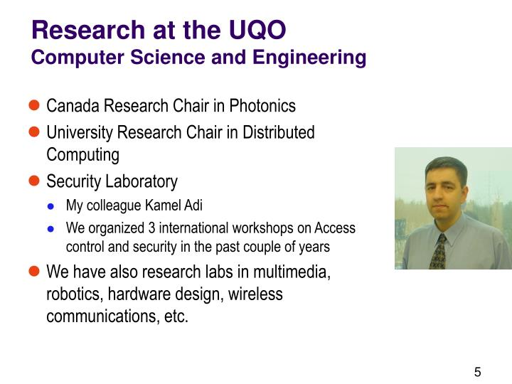 Research at the UQO