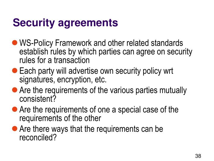 Security agreements