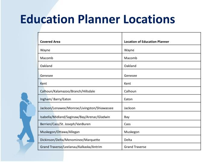 Education Planner Locations