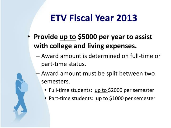 ETV Fiscal Year 2013