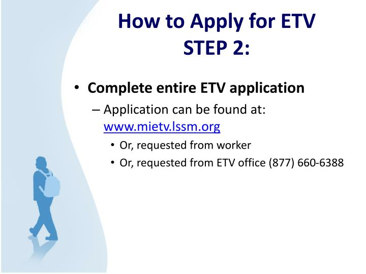 How to Apply for ETV