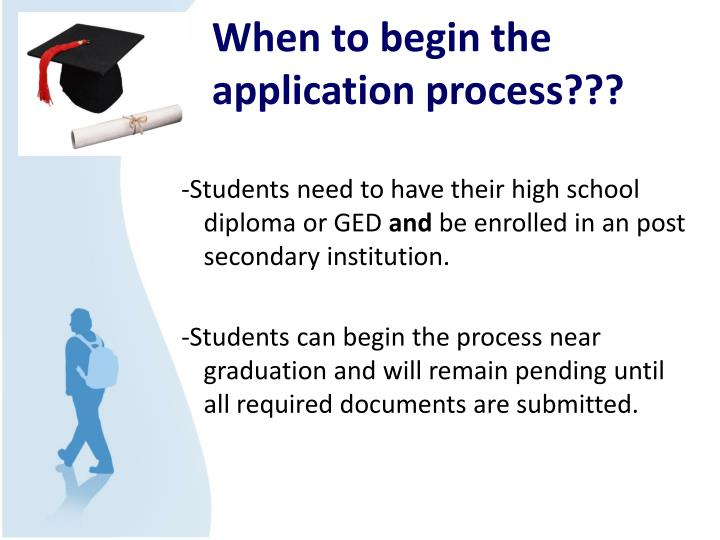 When to begin the application process???
