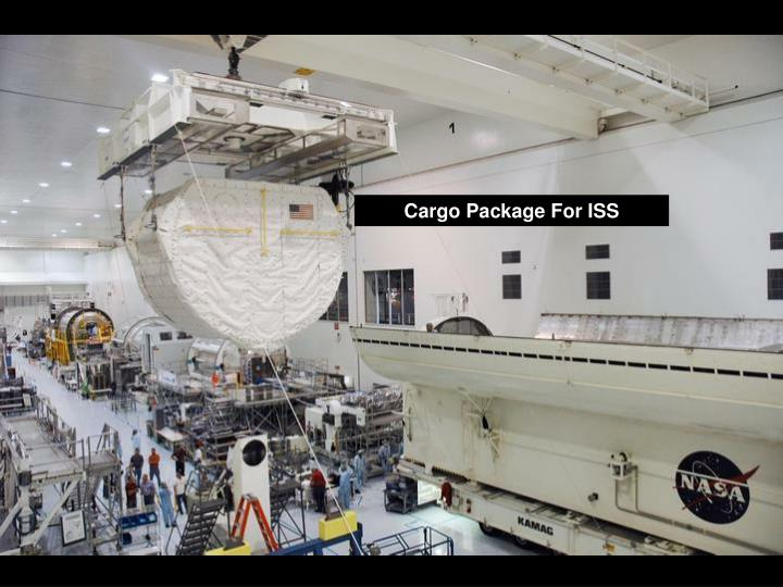 Cargo Package For ISS