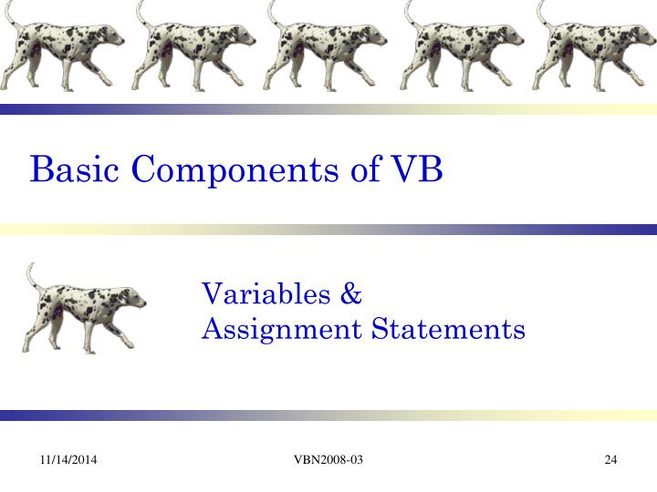 Basic Components of VB