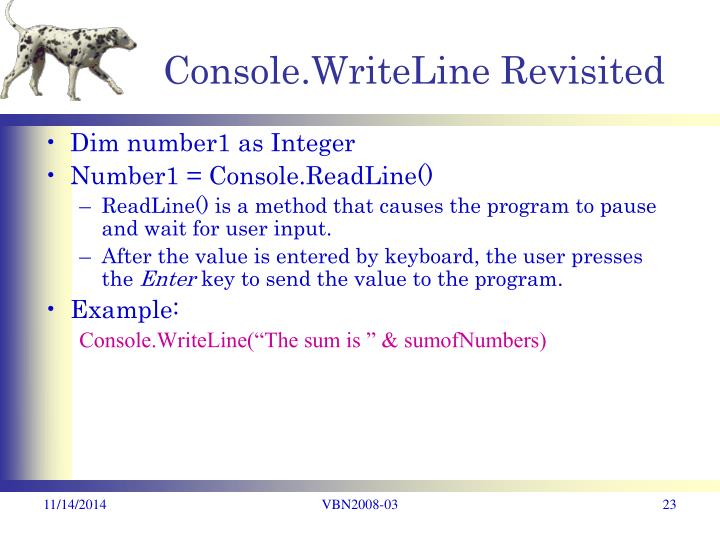 Console.WriteLine Revisited