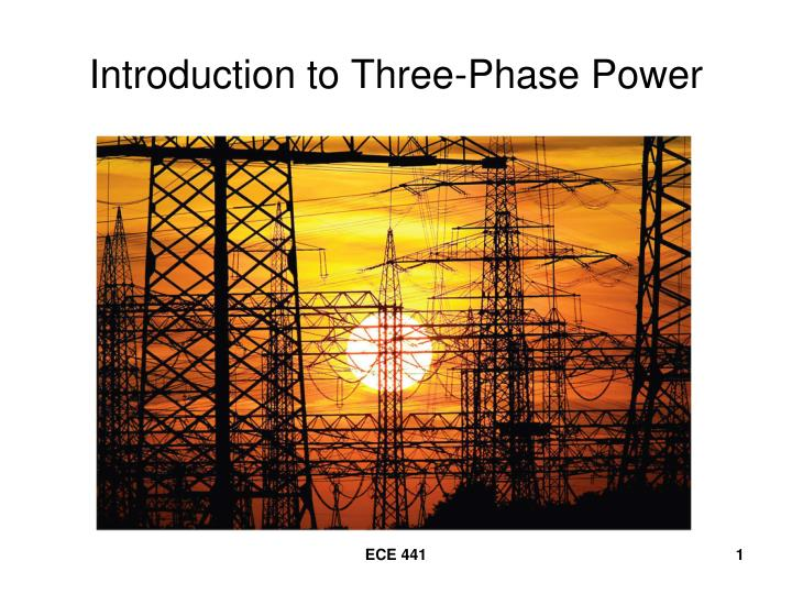 Introduction to three phase power