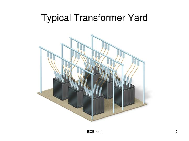 Typical transformer yard