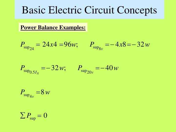 Basic Electric Circuit Concepts