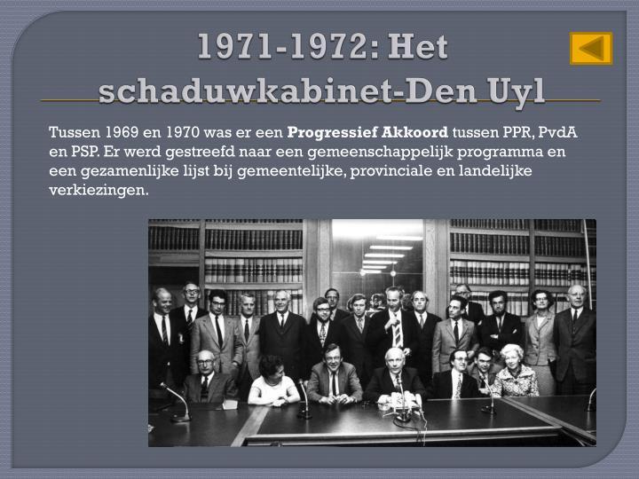 1971-1972: Het