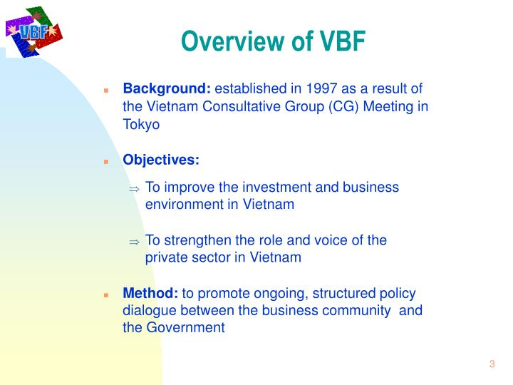 Overview of VBF