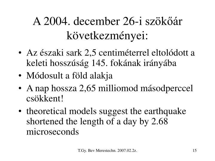 A 2004. december 26-i szökőár következményei: