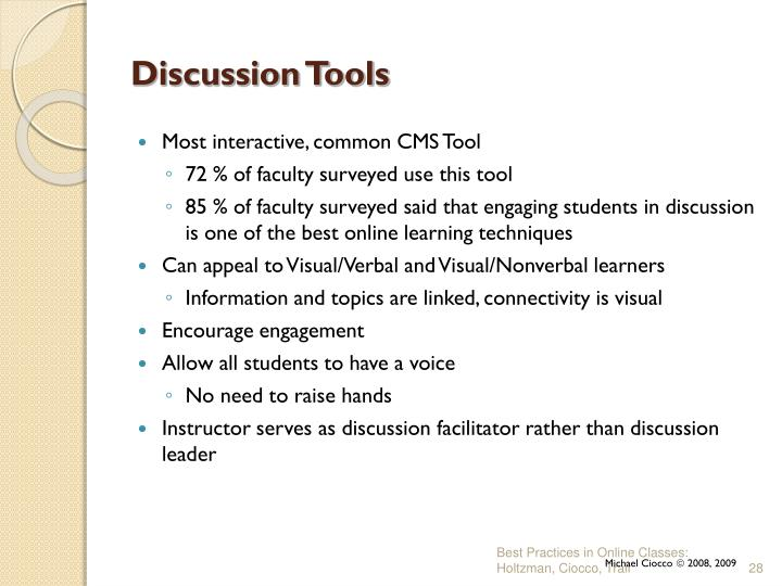 Discussion Tools