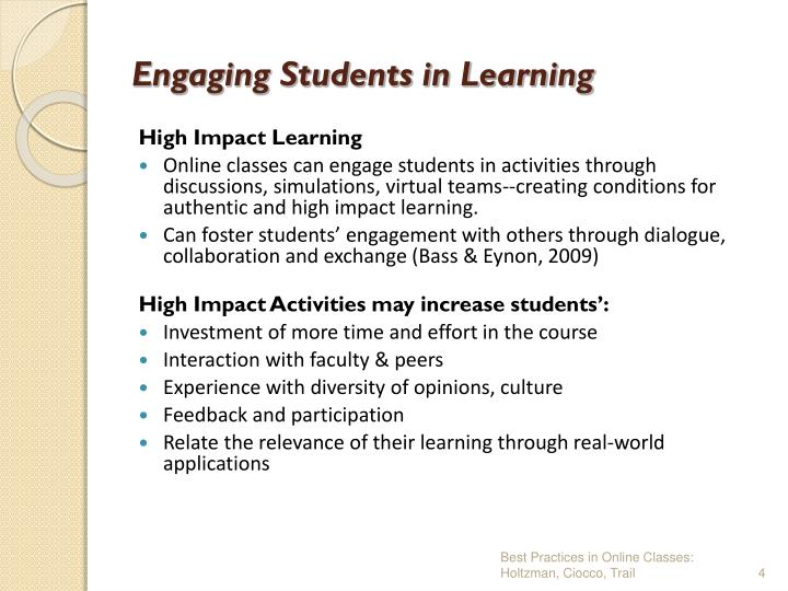 Engaging Students in Learning