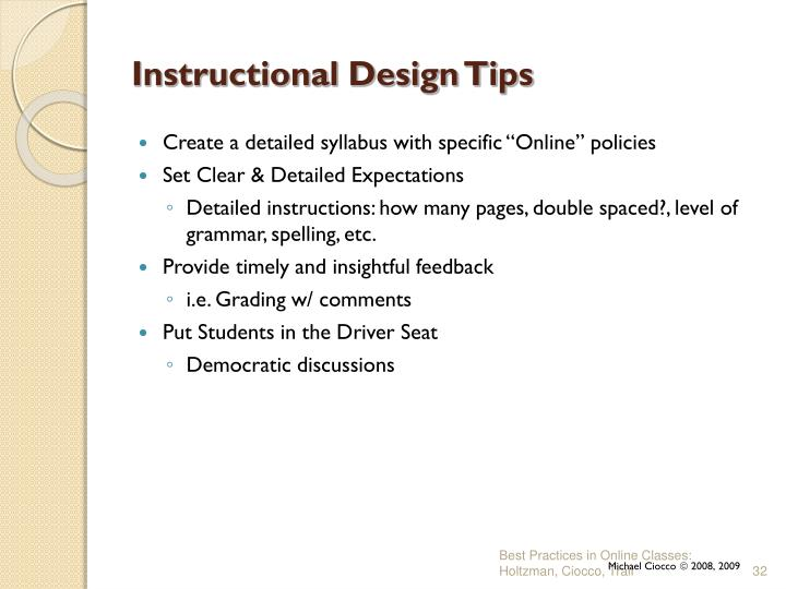 Instructional Design Tips