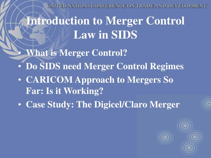 Introduction to Merger Control Law in SIDS