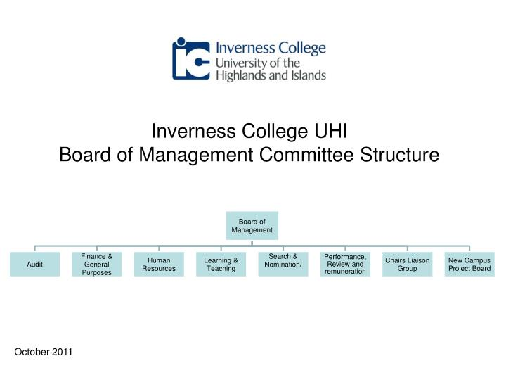 Inverness college uhi board of management committee structure