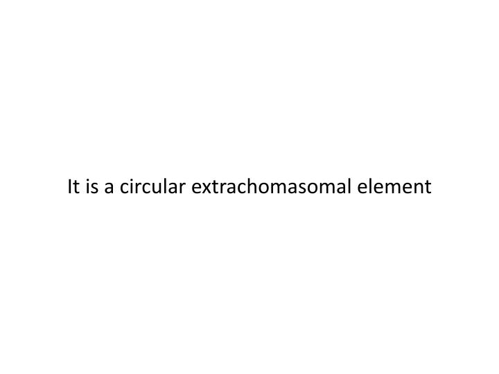 It is a circular