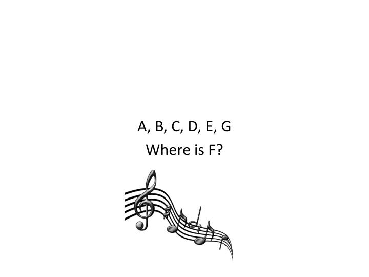 A, B, C, D, E, G