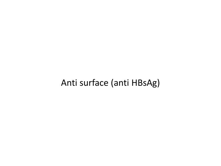 Anti surface (anti