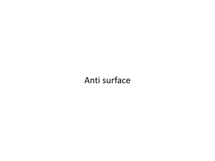 Anti surface