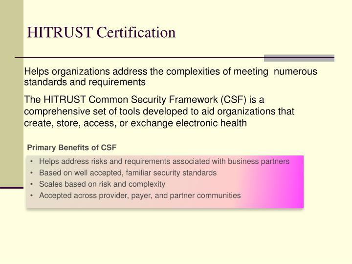 HITRUST Certification