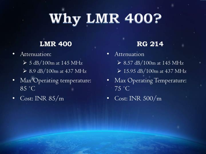 Why LMR 400?