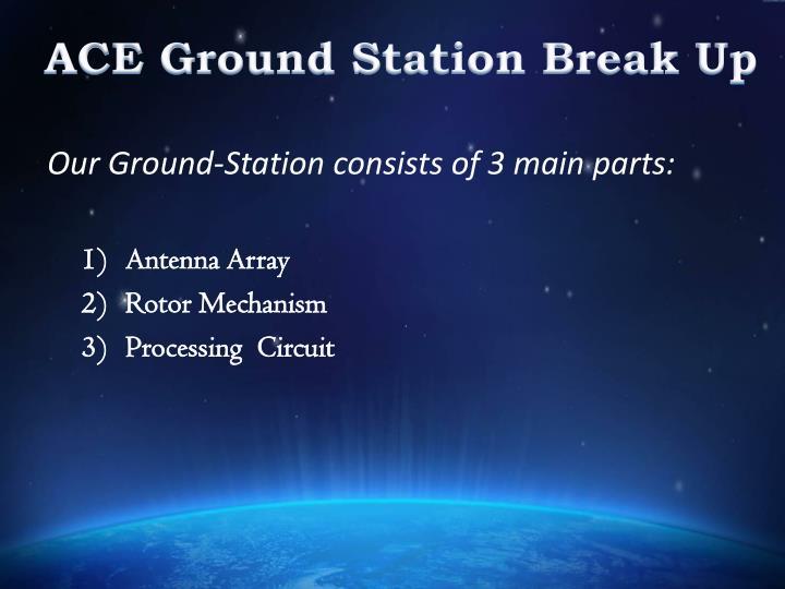 ACE Ground Station Break Up