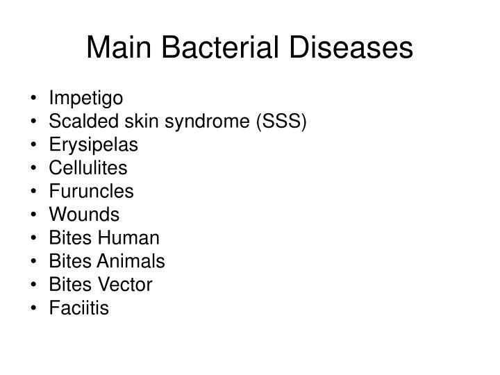 Main Bacterial Diseases