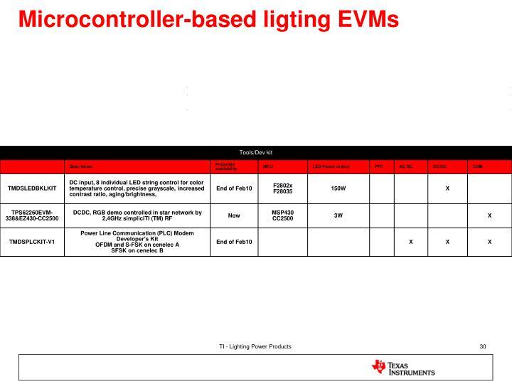 Microcontroller-based ligting EVMs