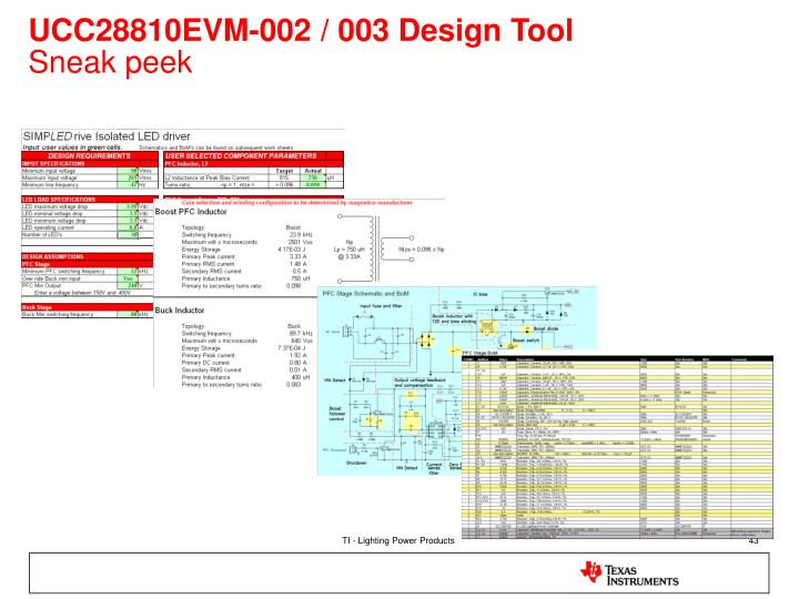 UCC28810EVM-002 / 003 Design Tool