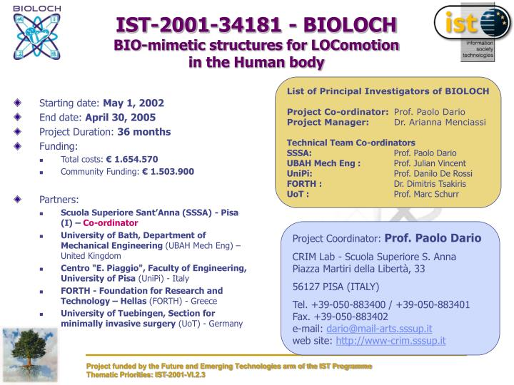 Ist 2001 34181 bioloch bio mimetic structures for locomotion in the human body